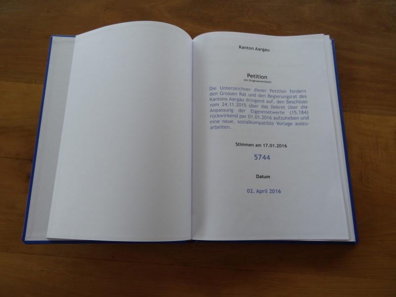 Petition - Deckblatt